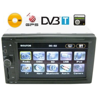 6.5 Inch TFT LCD Touchscreen High-Def Car DVD Player with GPS Navigator