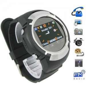 Multifunctional 1.33 Inch TFT LCD Touchscreen Moblie Phone Watch with Camera