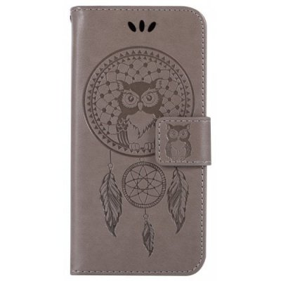 For Samsung S5 Dandelion Embossed Protective Cover - GRAY