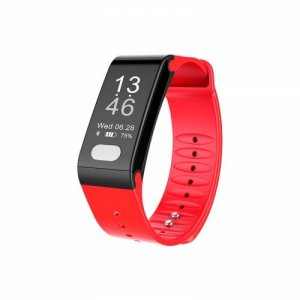 T6 blood pressure monitoring smart health bracelet heart rate smart watch - RED