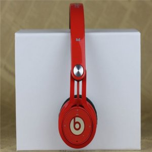 Beats By Dr Dre Mixr Wireless Bluetooth Over-Ear Red DJ Headphones Inspired by David Guetta
