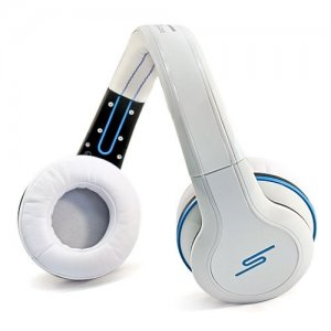 SMS Sync by 50 Cent Wireless Over-Ear Headphones- White