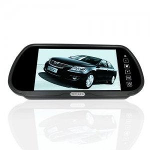 7 Inch LCD Widescreen Car Rearview Monitor with Touch Button