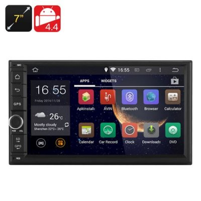 7 Inch Android 9.1 Car Media Player - 2DIN Fitting, 3G, Bluetooth, Wi-Fi, GPS, RK3066 1.6GHz CPU, 1GB RAM