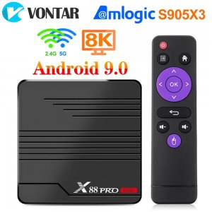 X88 PRO Mini TV Box Android 9.0 Amlogic S905X3 4K 60fps Google Player Youtube Media Player 2GB 16GB Set Top Box