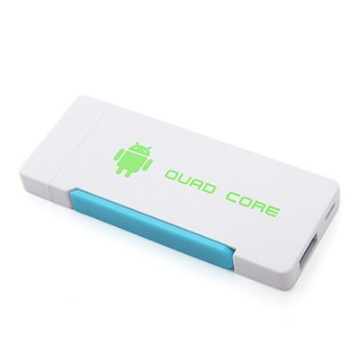 Hi719 Quad Core Mini Android TV Box TV Dongle RK3188 Dual Antenna Bluetooth 2GB 8GB Android 11.0-White