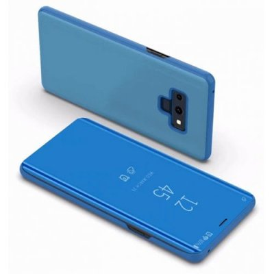 Cover Case for Samsung Galaxy note 9 Luxury Mirror Clear View Flip Stand Leather - BLUE