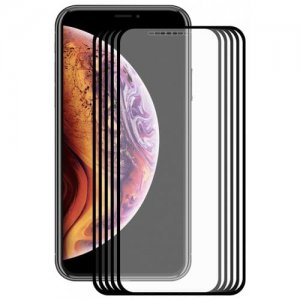 Hat - Prince 2.5D 0.2mm 9H Tempered Glass Full Screen Protector for iPhone XS Max 5pcs - BLACK