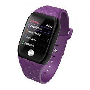 B59 Smart Bracelet Step Heart Rate Blood Pressure Oxygen Alarm Call Reminder - PURPLE