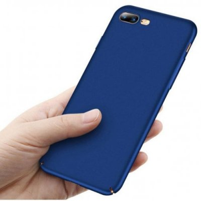 Hard Plastic Full Protective Anti-scratch Resistant Cover Case for iPhone 7 Plus - 8 Plus - BLUE