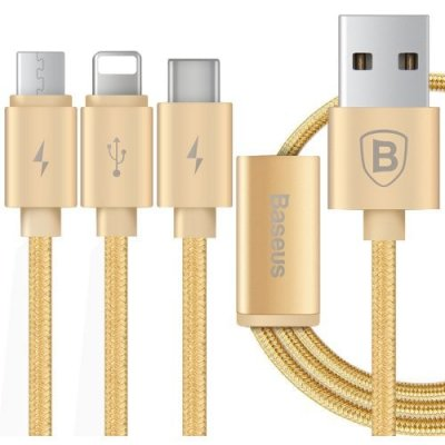 Baseus Portman Series 3 in 1 Charge Cable 1.2M - GOLDEN
