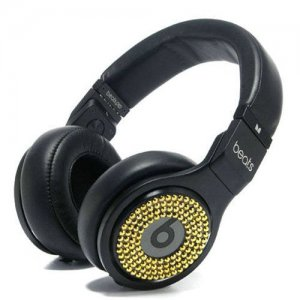 Beats By Dr Dre PRO DETOX Limited Edition Gold Diamond Headphones