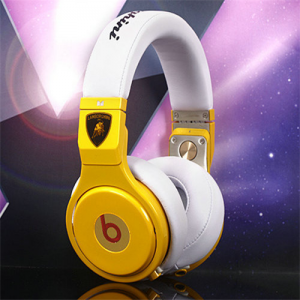 Beats By Dr Dre Pro Yellow with Red Lamborghini Over-Ear Headphones