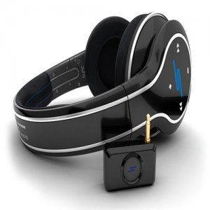 SMS Sync by 50 Cent Wireless Over-Ear Headphones-Black