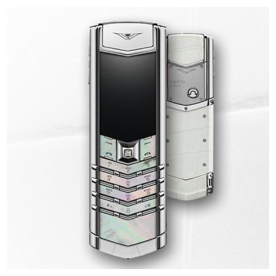 Vertu Signature White Mother of Pearl 2GB RAM 16GB ROM luxury Phone
