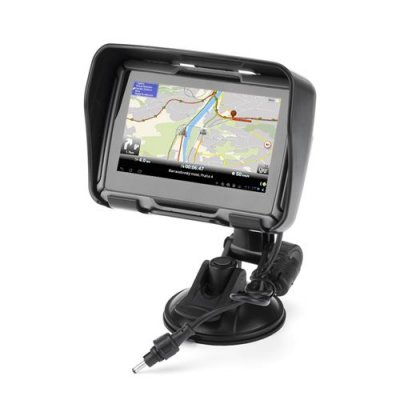 All Terrain 4.3 Inch Motorcycle GPS Navigation System 'Rage' -IPX7 Rating, 4GB Internal Memory, Bluetooth (Black)