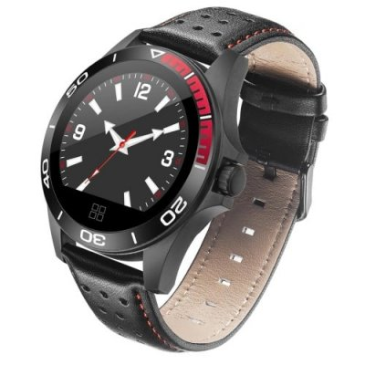 Ck21 Smart Bracelet Watch Carbon Fiber Shell Round Screen Step Heart Rate - BLACK