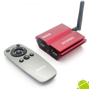 Q7 Android TV Box A31S Quad Core 2GB 8GB Android 9.1 Remote Control TF Card- Red