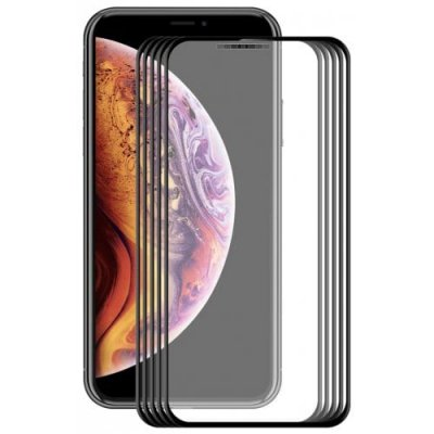 Hat-Prince HD Tempered Glass Screen Protector for 6.5 inch iPhone XS Max 5pcs - BLACK