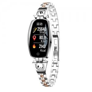 H8 Girl Smart Bracelet Watch Sports Heart Rate Blood Pressure Waterproof Watch - SILVER