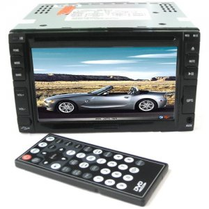 6.5 Inch Touch Screen Car DVD Player - GPS - TV - Remote Control