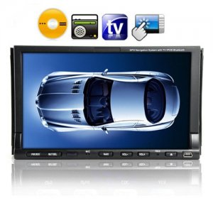 2 DIN 7 Inch Touch Screen Car DVD Player - TV - Remote Control