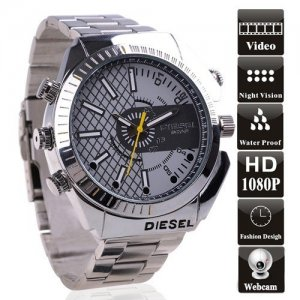 8GB Waterproof 1080P IR Spy Watch DVR Support Night Vision and PC Camera
