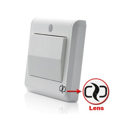 HD Spy Camera Light Switch with GSM Remote Control w/ Motion Detection and MMS Alerts