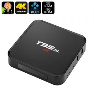 T95m Android TV Box - 2GB RAM, Amlogic S905 CPU, Android 9.1, Kodi 16.0, 4Kx2K, Wi-Fi, Optical SPDIF, OTG