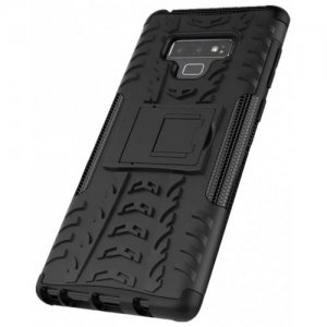 Shockproof with Stand Back Cover Armor Hard PC for Samsung Galaxy Note 9 Case - BLACK