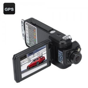 Dual Camera HD Car DVR - HD Resolution, Backup Camera, Auto Record, Loop Record, GPS, G-Sensor
