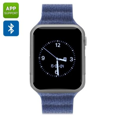 "Bluetooth Wrist Watch Mobile ""ZenGear"" - 1.54 Inch, Pedometer, Bluetooth 4.0, Heart Rate Monitor, iOS Android App (Silver)"