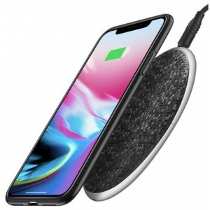 Qi Wireless Charger 5V1A Desktop Wireless Fast Charging Pad For iPhone X - 8 - 8 Plus Samsung Galaxy S8 - S8 + - Note 8 - BLACK