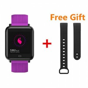 Q9 Smart Bracelet Blood Pressure Heart Rate Monitoring Waterproof Step Counter - PURPLE