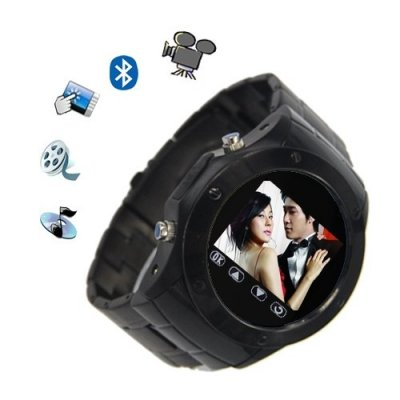 W968 Watch Moblie Phone Touch Screen Camera FM Bluetooth Sliver