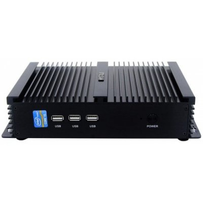 P04 I3 6006U Fanless Mini Pc - BLACK