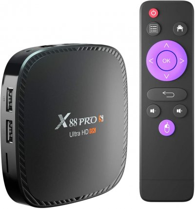 X88 Pro S Android Box, Android 10.0 TV Box 4GB Ram 128GB Rom H616 Quad-Core Support 6K 2.4G/5.8G Dual Wifi Ethernet HDMI BT 5.0