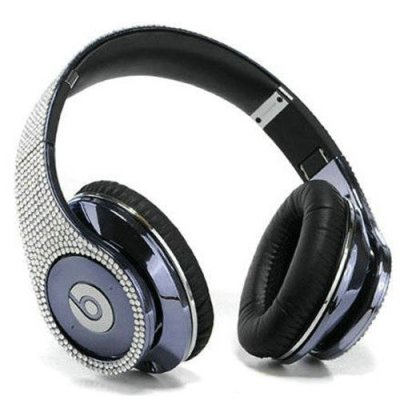 Beats By Dr Dre Studio Blue Studded Diamond Headphones
