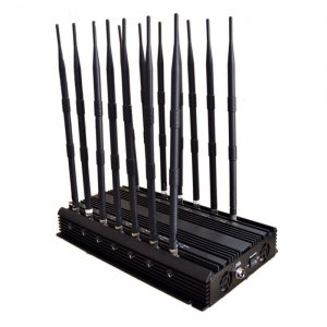 14 Antennas Adjustable 3G 4G Cellphone Signal Blocker & WiFi GPS UHF VHF & Full Bands Signal Jammer