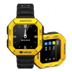 MFOX AWatch - IP68 Heart Monitor Sport Watch Phone - Yellow