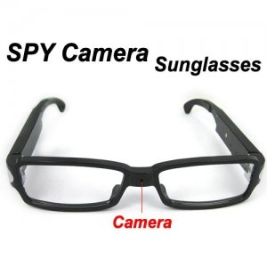 Low Illumination Spy Glasses DVR With Hidden Camera Support PC camera