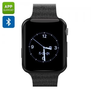 "Bluetooth Wrist Watch Mobile ""ZenGear"" - Heart Rate Monitor, Pedometer, Bluetooth 4.0, SIM Card Slot, App Support (Black)"