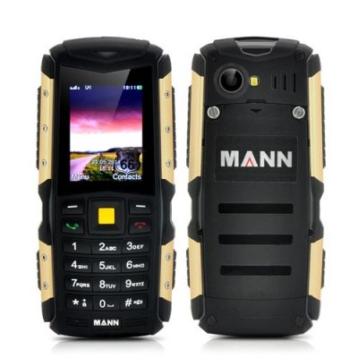 MANN ZUG S Rugged 2 Inch Display Phone - IP67 Waterproof + Dust Proof Rating, Shockproof, 2570mAh Battery (Gold)