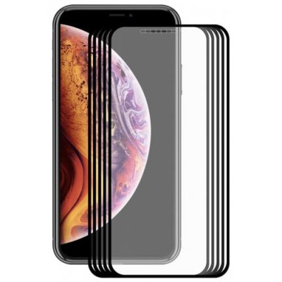 Hat - Prince 2.5D 0.2mm 9H Tempered Glass Full Screen Protector for iPhone XS - iPhone X 5pcs - BLACK