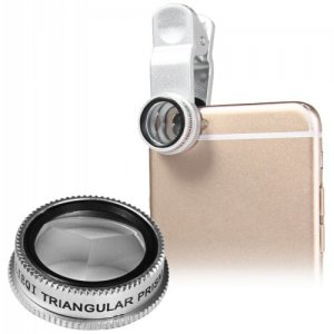 LIEQI LQ - 004 Triangular Prism External Camera Lens - SILVER