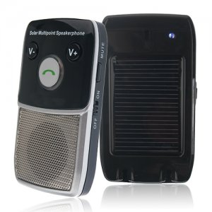 Bente FM163 Handsfree Car Kit Bluetooth V2.1+EDR Solar-Powered Multipoint Speakerphone