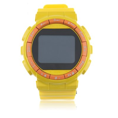 GD920 Quad Band Bluetooth Camera 1.5 Inch Touch Screen Cellphone Watch Phone-Yellow