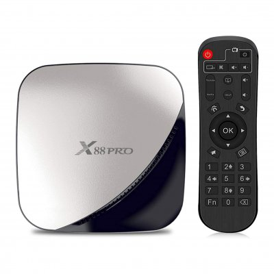 X88 PRO Android 9.0 TV Box 2GB RAM 16GB ROM RK3318 Quad-Core 64bit Cortex-A53 Dual WiFi 2.4GHz/5GHz Support 4K 3D Video Media Player