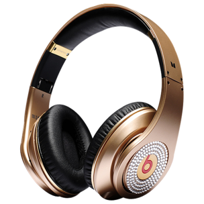 Beats By Dr Dre Studio Over-Ear Gold Headphones