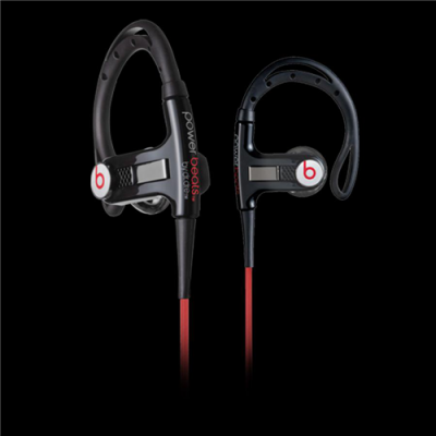 Beats By Dr Dre PowerBeats Clip-On Black Headphones